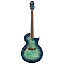 LTD TL6FMAQMB Transducer-Electric Guitar Aqua Marine Burst