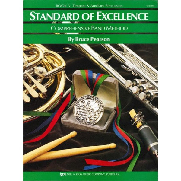 KJOS Standard of Excellence Book 3 - Timpani/Auxiliary Percussion, W23TM