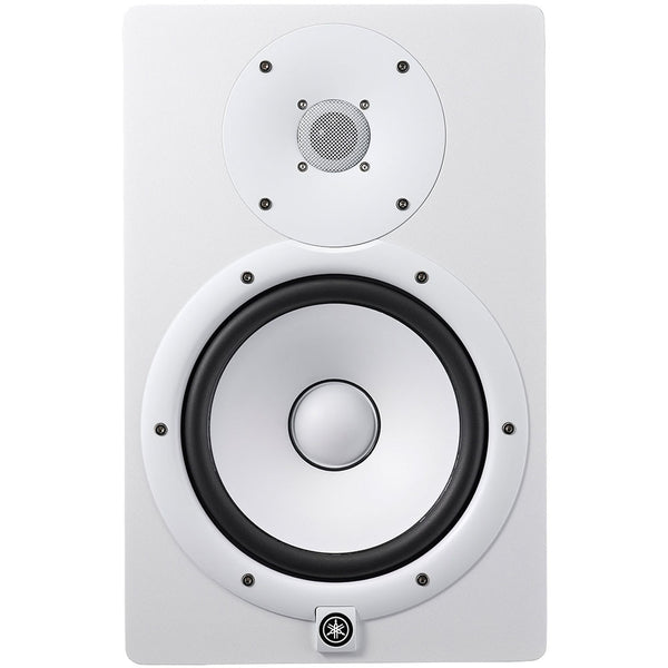 Yamaha HS8 8 Inch Powered Studio Monitor in White - Ken Stanton Music