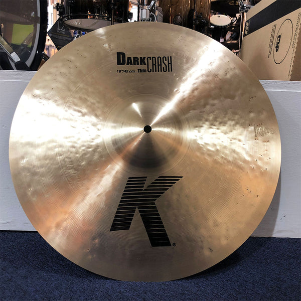 Used Zildjian 18-Inch K Dark Thin Crash Cymbal