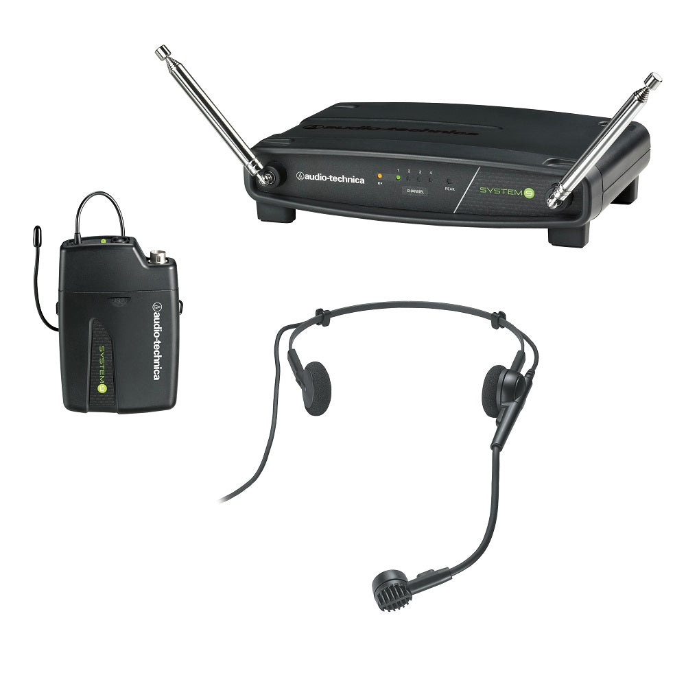 Audio-Technica ATW-901a/H System 9 VHF Wireless Systems with Headset Mic