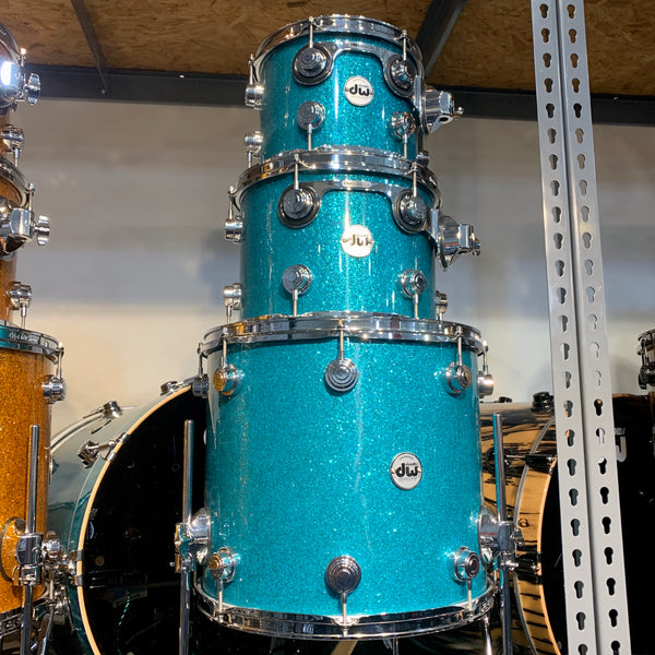DW Collector's Series 4 Piece Shell Kit Teal Glass