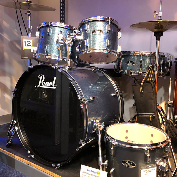 Pearl RS525SCC703 Roadshow Series 5-Piece Complete Drum Set Aqua Blue Glitter