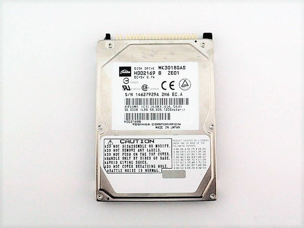 Toshiba MK3018GAS Used Laptop Hard Drive 2.5 30GB IDE 4.2K