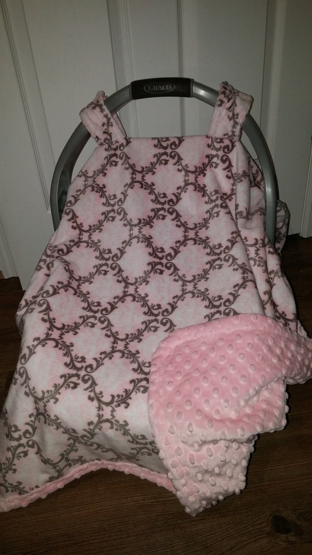 Canopy Car Seat Cover - Shannon Minky Fabric