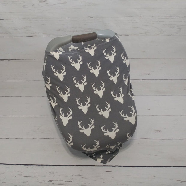Stretchy Car Seat Cover - Grey Buck