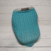 Stretchy Car Seat Cover - Teal Arrows
