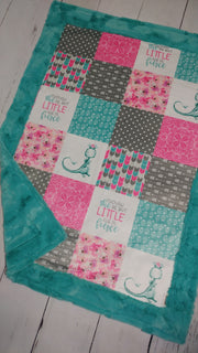 Designer Minky Blanket - Little & Fierce Dragon