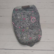 READY TO SHIP - Stretchy Car Seat Cover Designer - Doodle Hearts