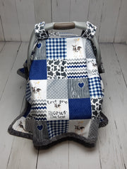 Canopy Car Seat Cover - Designer Fabric