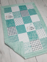 Designer Minky Blanket - Elephant/You're the best thing about me