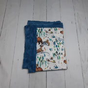 READY TO SHIP - Designer Minky Blanket - Wild Child - Baby