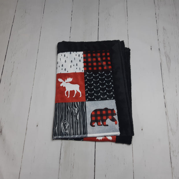 QUICK TURNAROUND - Designer Minky Blanket - Support Wildlife, Raise Wildlife - Child Size