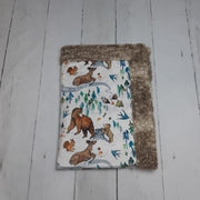 READY TO SHIP - Designer Minky Blanket - Wild Child Cappuccino Fawn- Baby