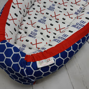READY TO SHIP - Small Sleep Nest - Eat Sleep Hockey