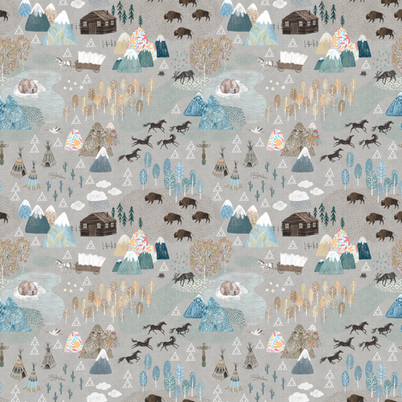 Designer Minky Blanket - Woodland Mountain