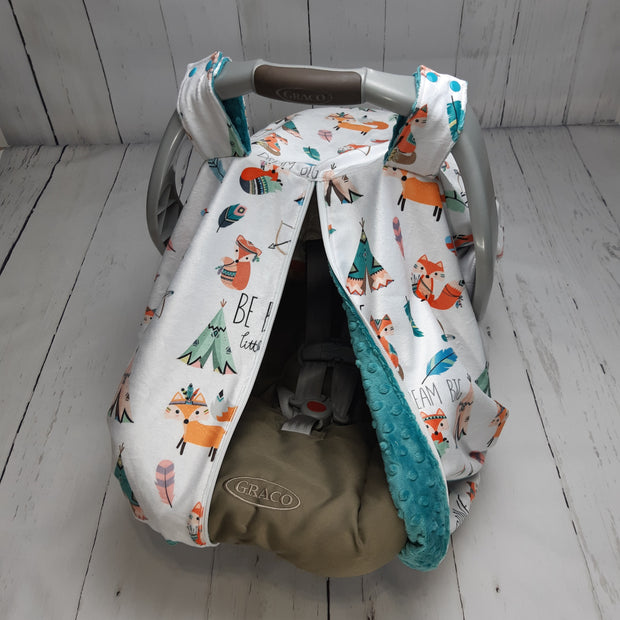 Zip Up Car Seat Cover - Designer Be Brave Little One