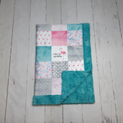 READY TO SHIP - Designer Minky Blanket - Stand Tall My Darling - Flamingo - Child