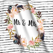 Designer Minky Blanket - Mr & Mrs