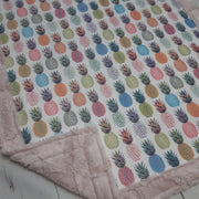 Designer Minky Blanket - Pineapple Summer