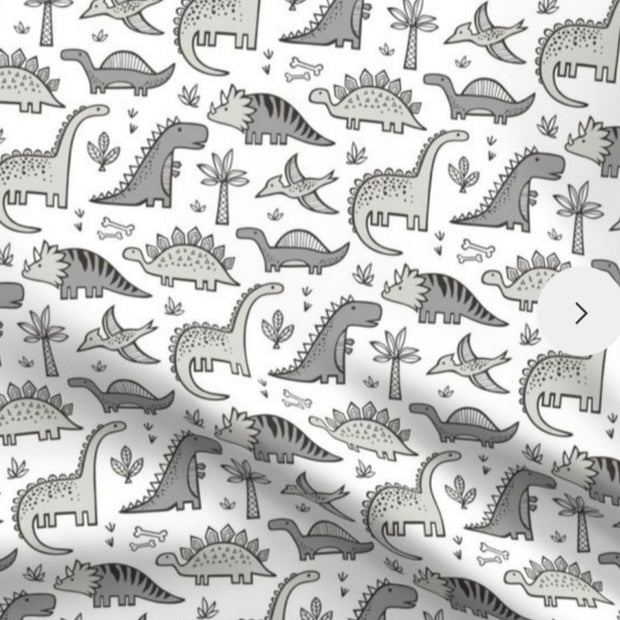 QUICK TURNAROUND  - Sleep Nest - Dinosaurs in Grey