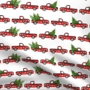 Designer Minky Blanket - Christmas Red Trucks