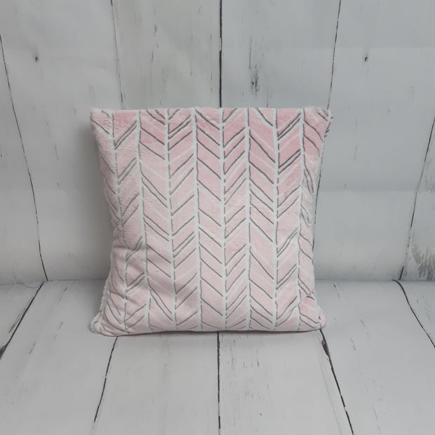 READY TO SHIP - Planket Child Size - Pink Herringbone/Frosted Alloy Hide