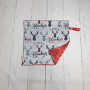 READY TO SHIP - Designer Minky Taggie - Little Adventurer