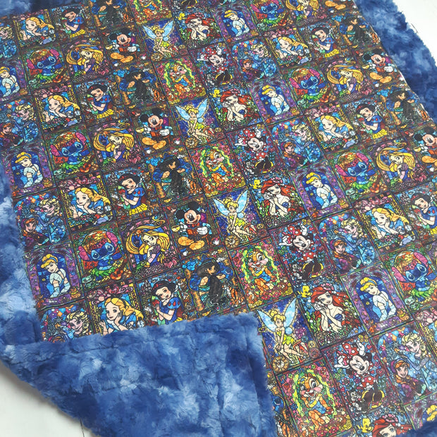READY TO SHIP - Limited Minky Blanket - Stainglass - Baby