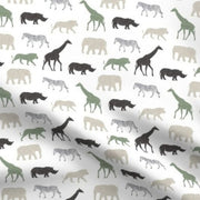 Designer Minky Blanket - Safari Animals - Multi Sage