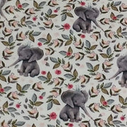 Zip Up Car Seat Cover - Baby Elephants with Flowers - Blush