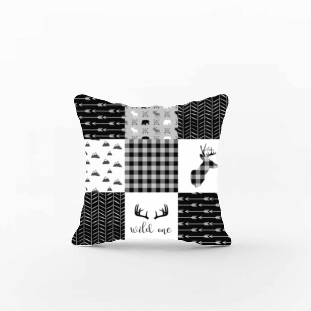 Designer Minky Pillows Shams - Wild One