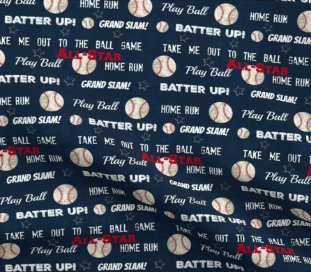 Designer Minky Blanket - Baseball Batter Up