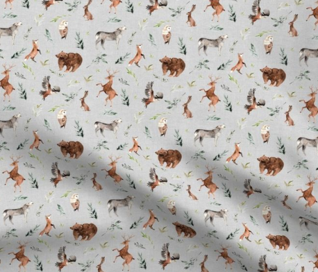 Designer Minky Blanket - Forest Animals