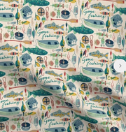 Designer Minky Blanket - Gone Fishing