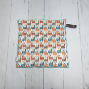 READY TO SHIP - Designer Minky Taggie - Colourful Llamas