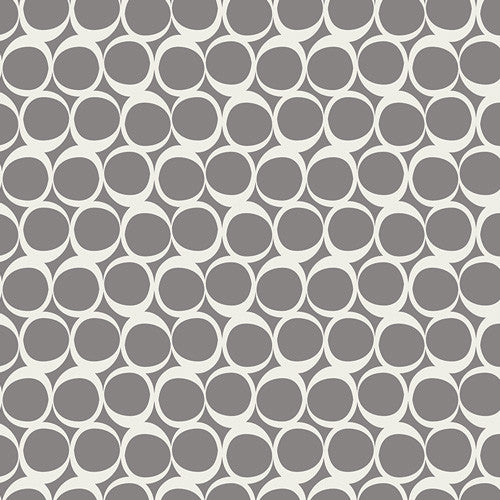 Stretchy Car Seat Cover - Grey Circles