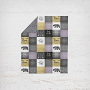 Designer Minky Blanket - Mom Life Purple