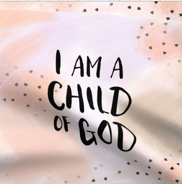 Designer Minky Taggies - I am a Child of God