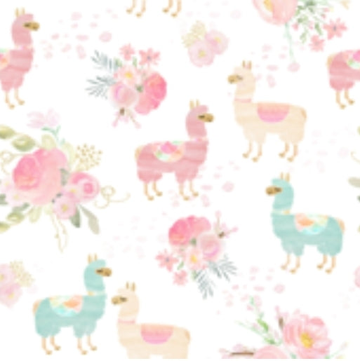 READY TO SHIP - Designer Minky Taggie - Llama Floral