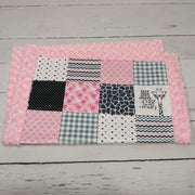 READY TO SHIP - Designer Minky Blanket - Hipster Giraffe Pink - Baby Size