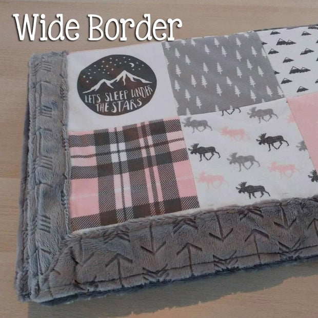 Designer Minky Blanket - Mother (you are the world)