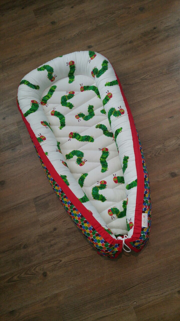 QUICK TURNAROUND - Small or Standard Sleep Nest - Hungry Caterpillar