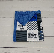 Designer Minky Blanket - Motocross/A little dirt never hurt - Blue