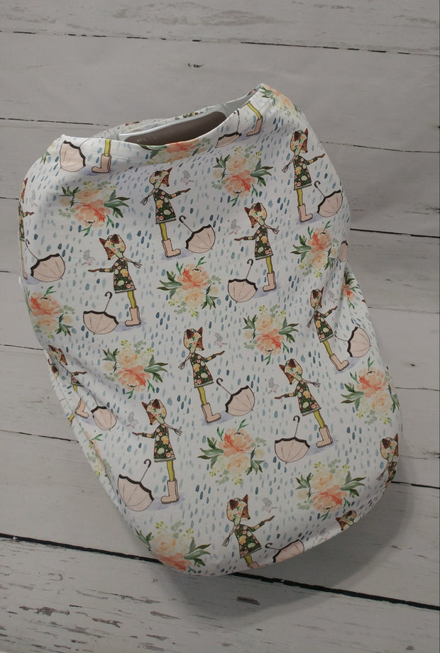 READY TO SHIP - Stretchy Car Seat Cover Designer - Sweet Fox