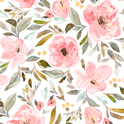Designer Minky Blanket - Watercolor Floral