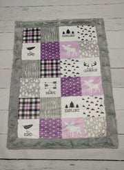 Designer Minky Blanket - Have Courage, Be Brave - Purple