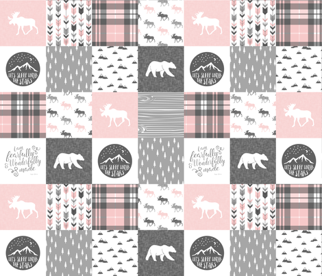 Designer Minky Blanket - Fearfully & Wonderfully Made - Pink