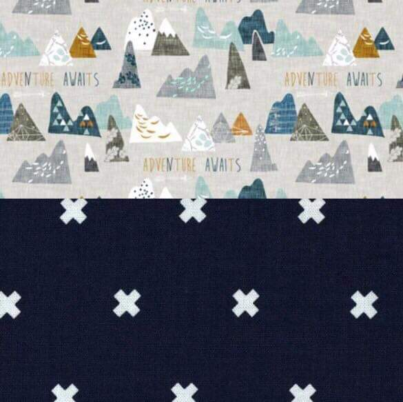 Stretchy Car Seat Cover Designer - Adventure Awaits/Navy X