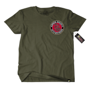 Metal Mulisha Armed Society T-Shirt Mens Front Military Green